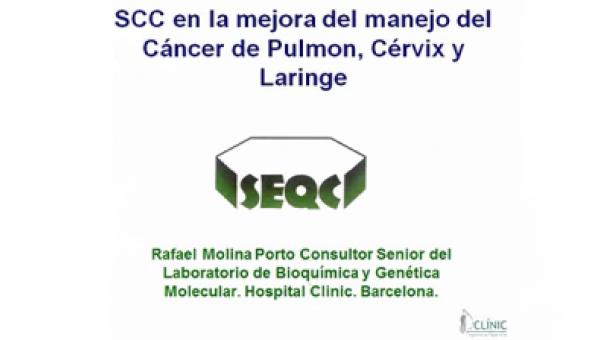 SCC en cáncer de pulmón, cérvix y laringe